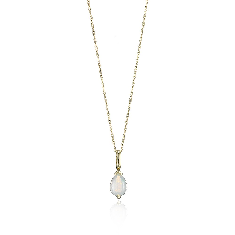 Women's Jewellery Opal Teardrop Pendant