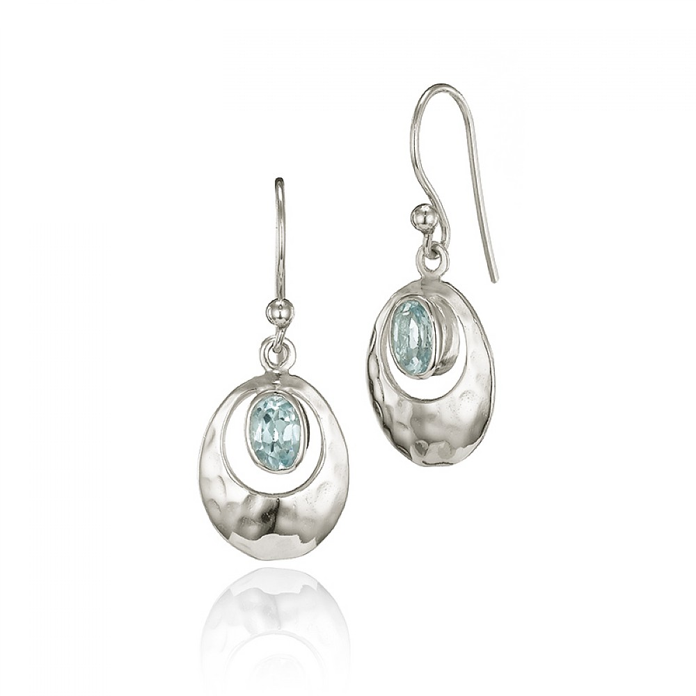 0c133a21ae7b05 Blue Topaz Heavenly Drop Earrings | Earrings | Pia Jewellery Direct