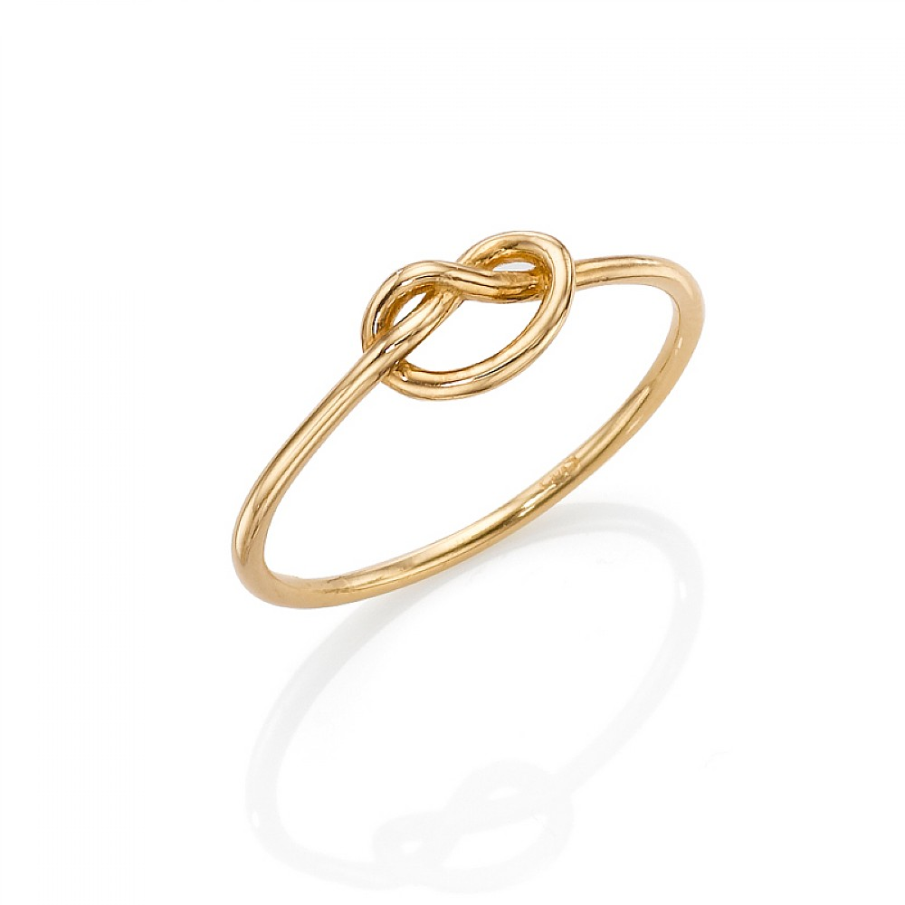 Buy Gold Love Knot Ring from Pia Jewellery