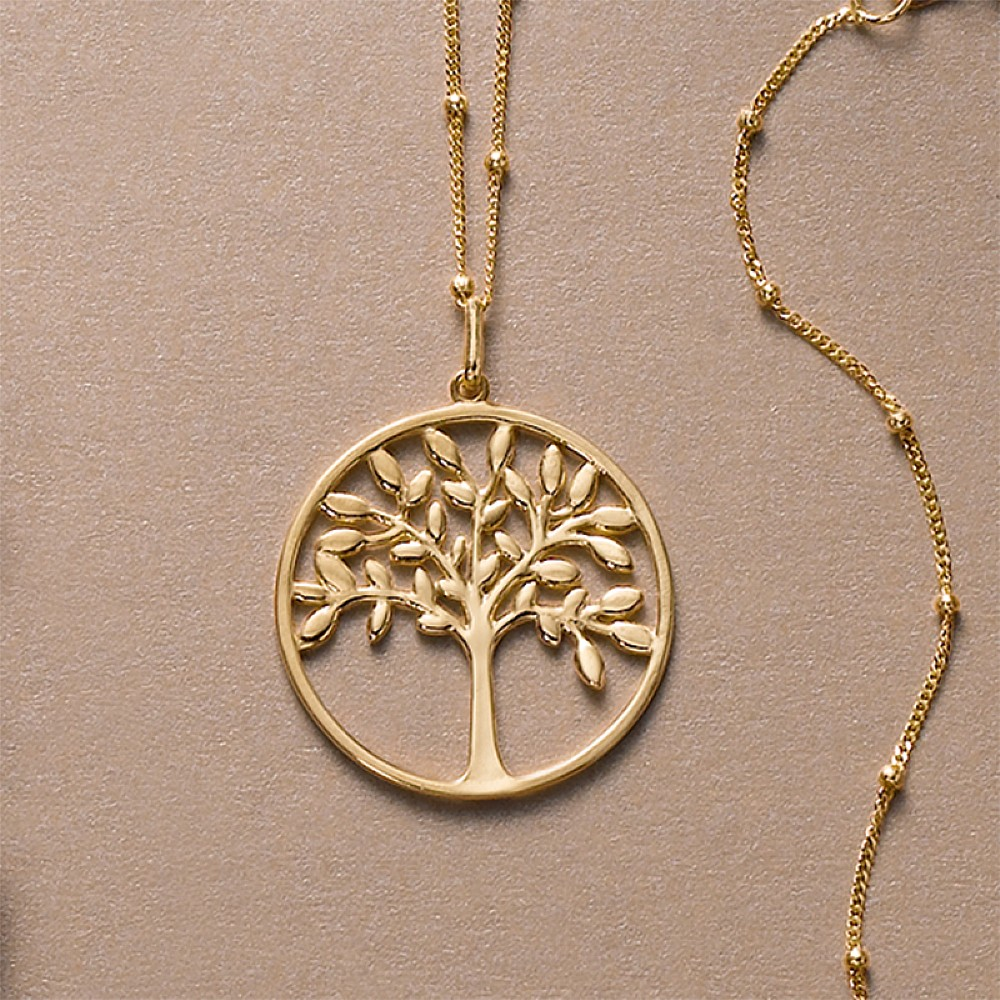 Buy gold tree of life pendant from pia jewellery gold tree of life pen aloadofball Image collections