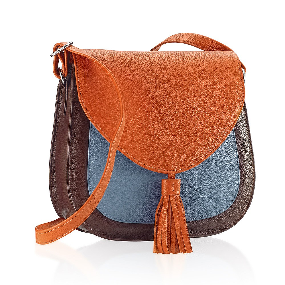 Bags Colour My World Leather Saddle Bag