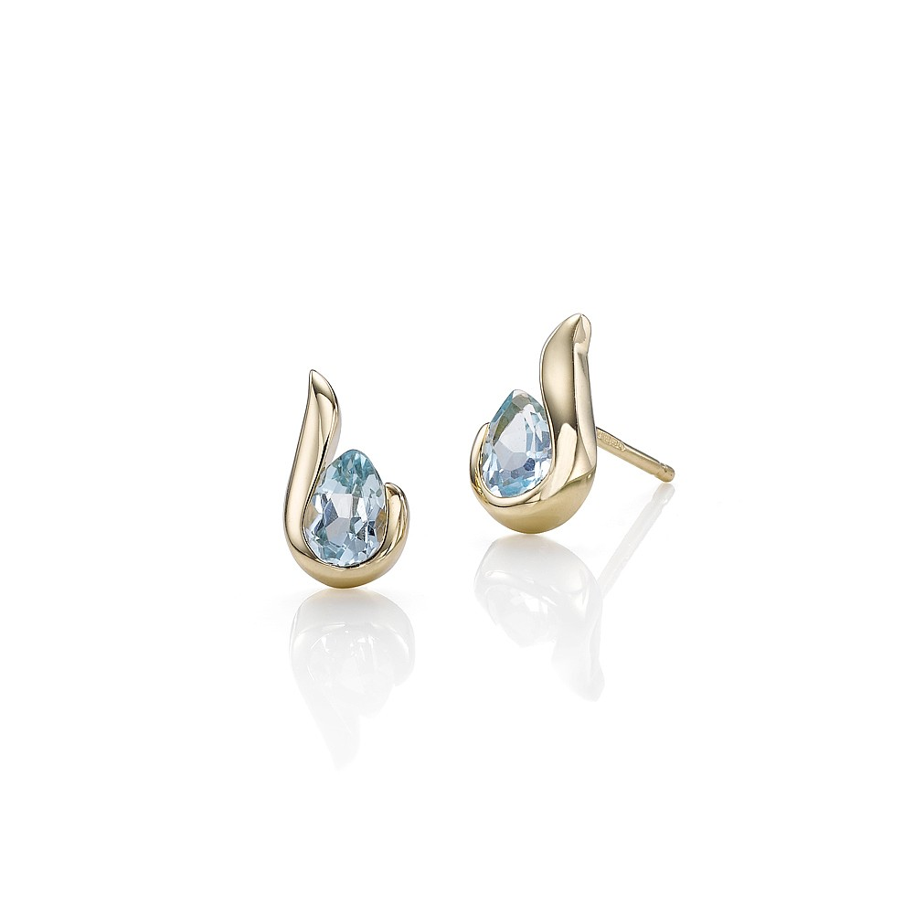 Women's Jewellery Hooked by Topaz Stud Earrings