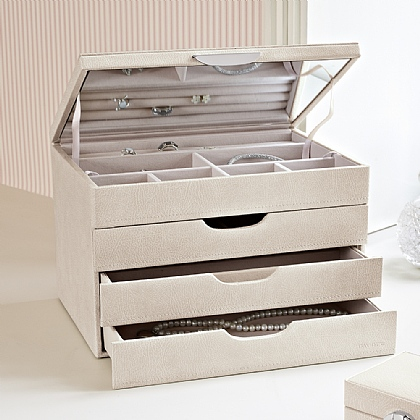 Three Drawer Jewellery Box