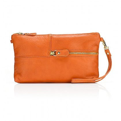Grab & Go Orange Clutch Bag