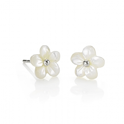 Mother-of-Pearl Flower Studs