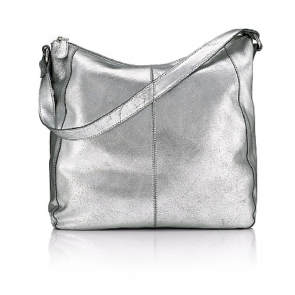 Burnished Silver Shoulder Bag