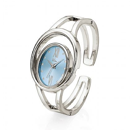 Silvery Orbit Watch