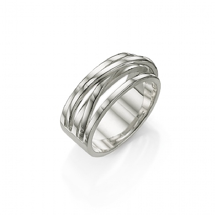 Silver Criss-Cross Ring