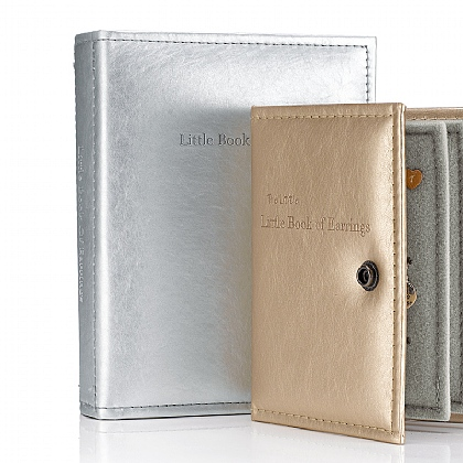 Metallic Silver Earring Book