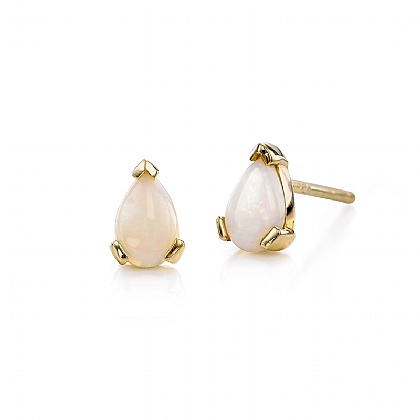 Opal Teardrop Stud Earrings