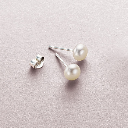 6mm Pearl Stud Earrings