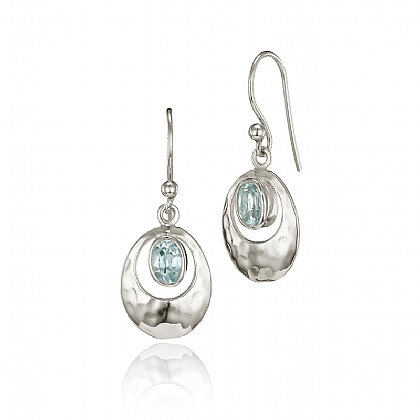 Topaz Echo Drop Earrings