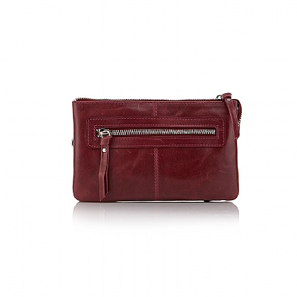 Burgundy Super-organised Clutch