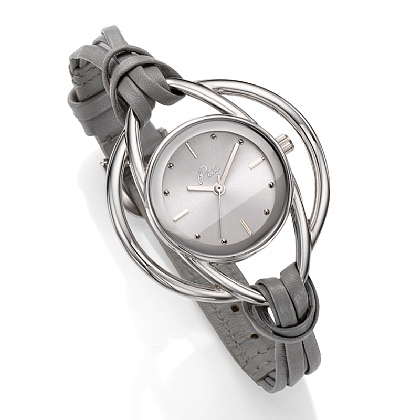 Grey Leather Loops Watch