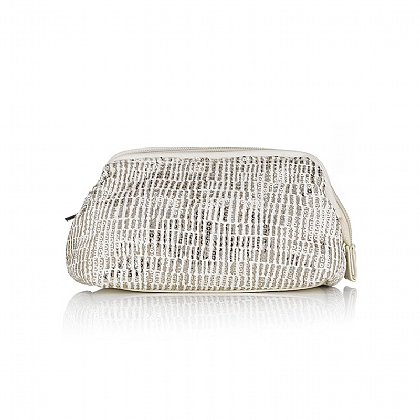 Cream Sequined Cream Cosmetics Purse