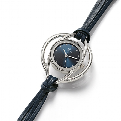 Navy Leather Loops Watch