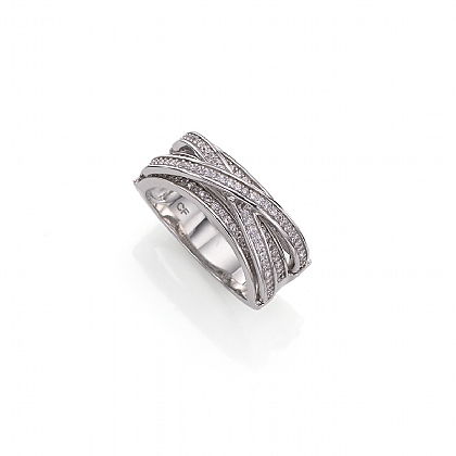 Sparkling Waves Ring