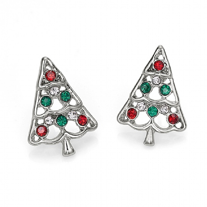 Crystal Tree Studs