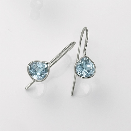 Tears of Blue Drop Earrings