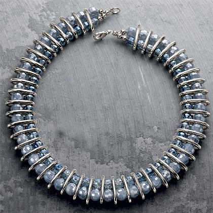 Crystal Beaded Collar Necklace