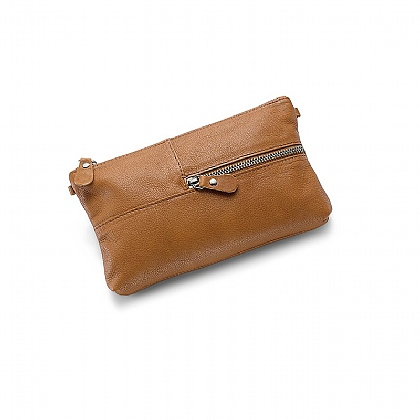 Grab & Go Tan Clutch Bag