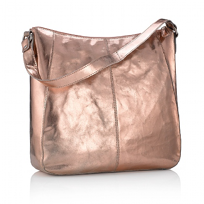 Burnished Rose Gold Shoulder Bag