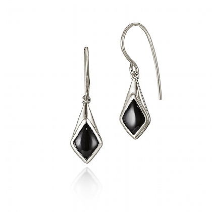 Onyx Kite Drop Earrings