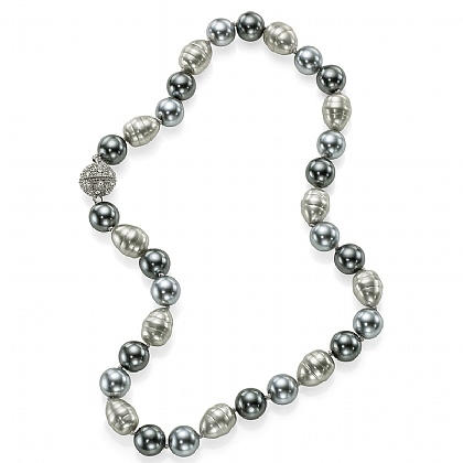 Glacial Grey Pearl Necklace