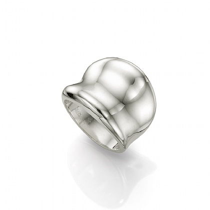 Sweeping Statement Silver Band Ring