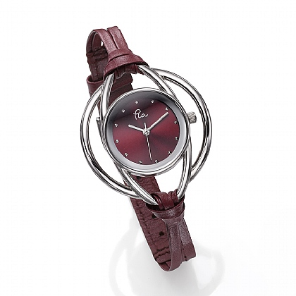 Claret Leather Loops Watch