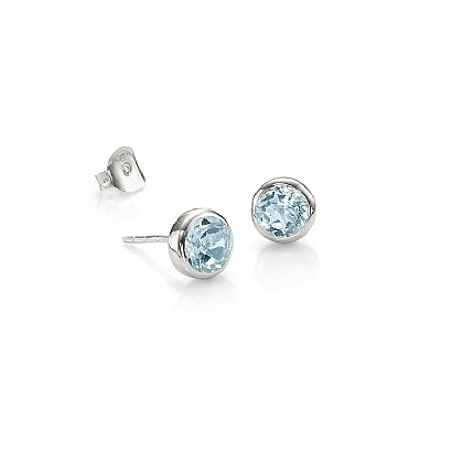 Blue Ice Stud Earrings