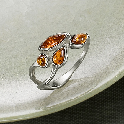 Amber Tears Ring
