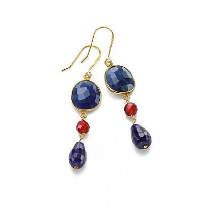 Lapis Cherry Drop Earrings