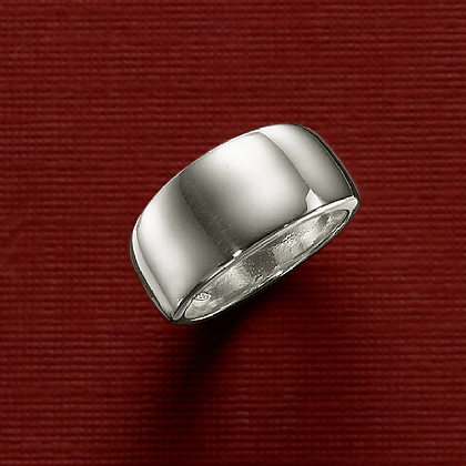 Silver Broad Band Ring