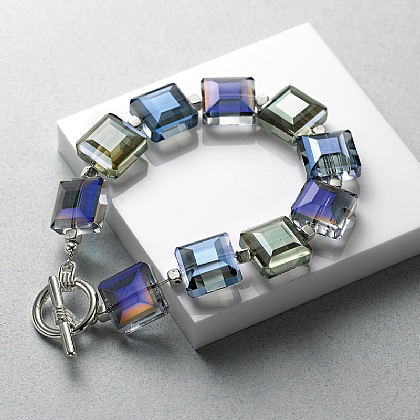 Irridescent Crystals Bracelet