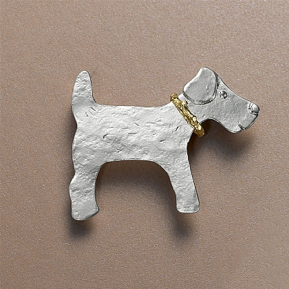 Silver Pedigree Dog Brooch