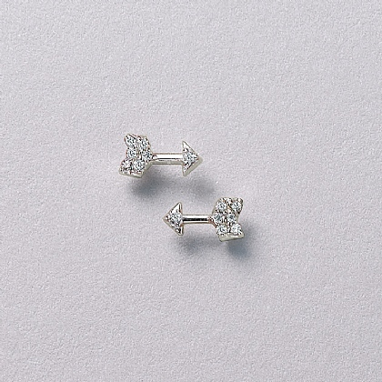 Aim High Silver Stud Earrings