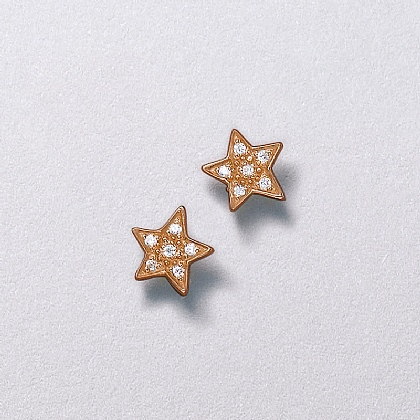 Reach for the Stars Rosy Stud Earrings
