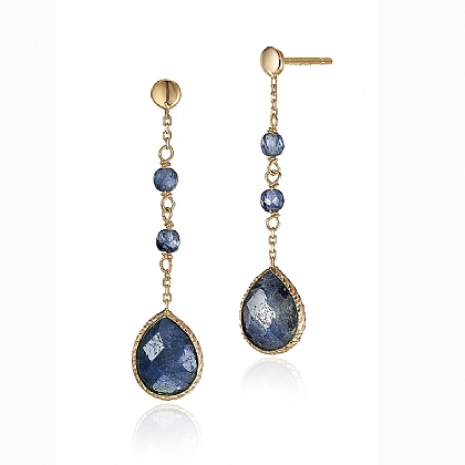 Sapphire Cascade Drop Earrings