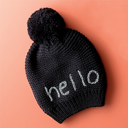 In a Word 'Hello' Hat