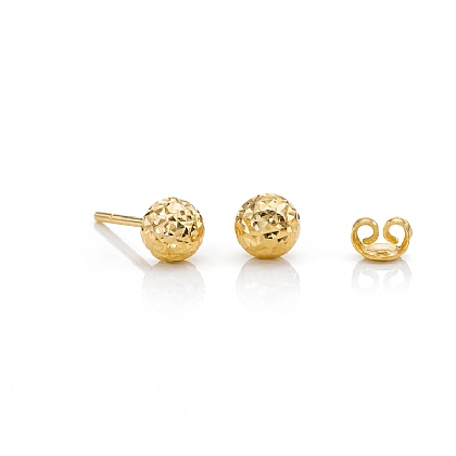 5mm Pinpoint Gold Stud Earrings