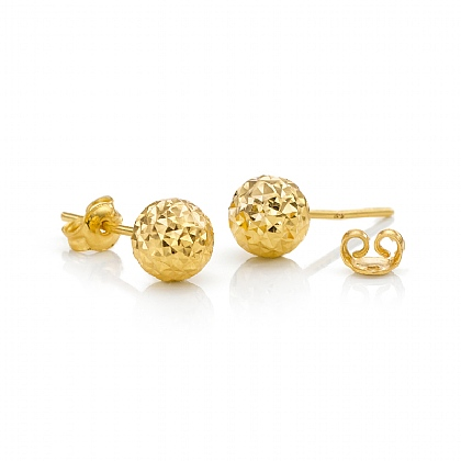 6mm Pinpoint Gold Stud Earrings