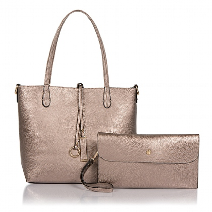 Large Rose Gold Two Piece Tote