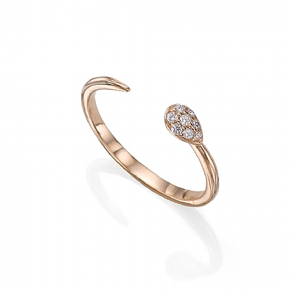 Rose Gold-plated Follow Me Ring