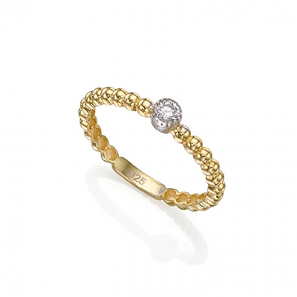 Gold-plated Sparkling Delicate Ring