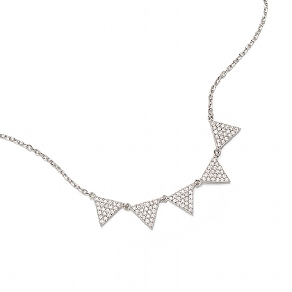 Slice of Light Silver Necklace