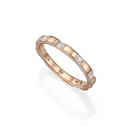Rose Gold-plated Square Up Ring
