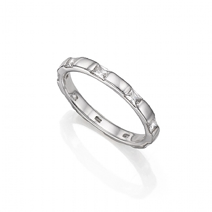 Silver Square Up Ring