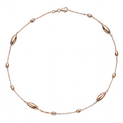 Rose Gold-plated Ellipse Necklace