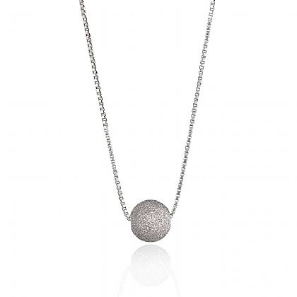 Silver Disco Diva Necklace